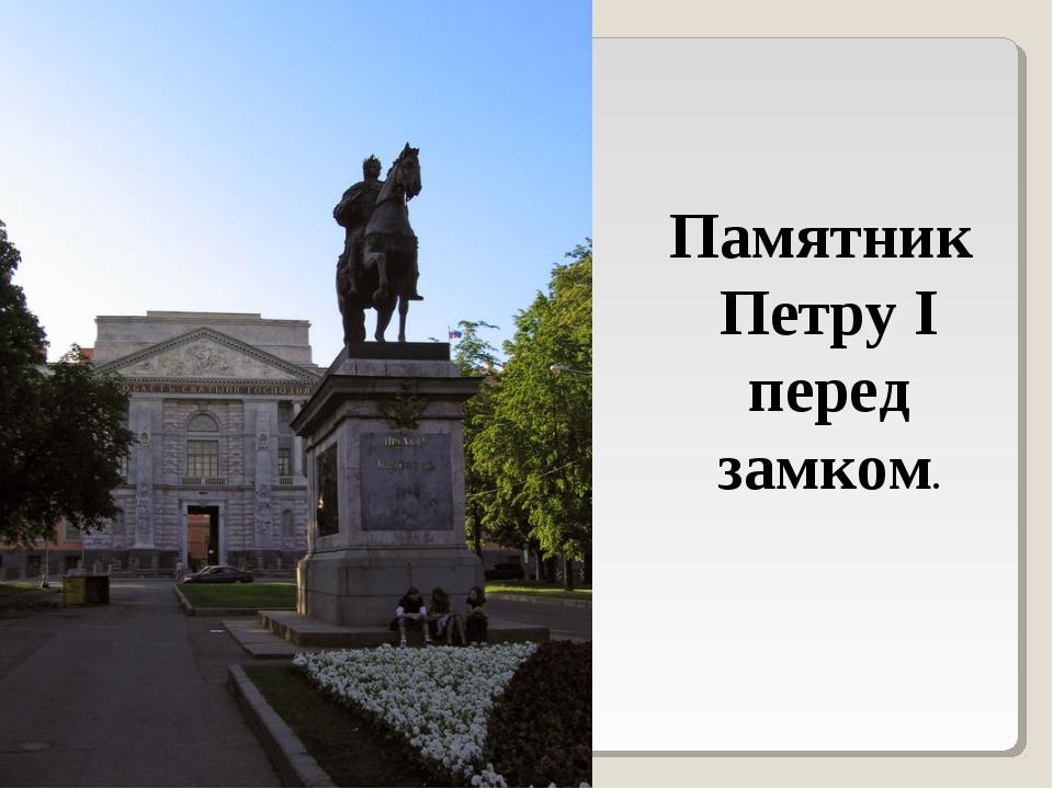 Памятник Петру I перед замком.