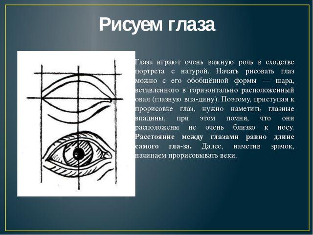 Рисуем глаза Глаза играют очень важную роль в сходстве портрета с натурой. На...