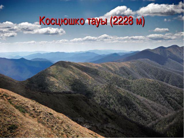 Косцюшко тауы (2228 м)
