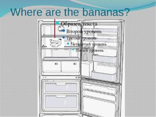 Where are the bananas?