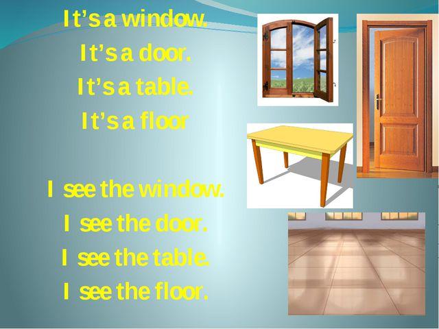 It's a window. It's a door. It's a table. It's a floor I see the window. I se...