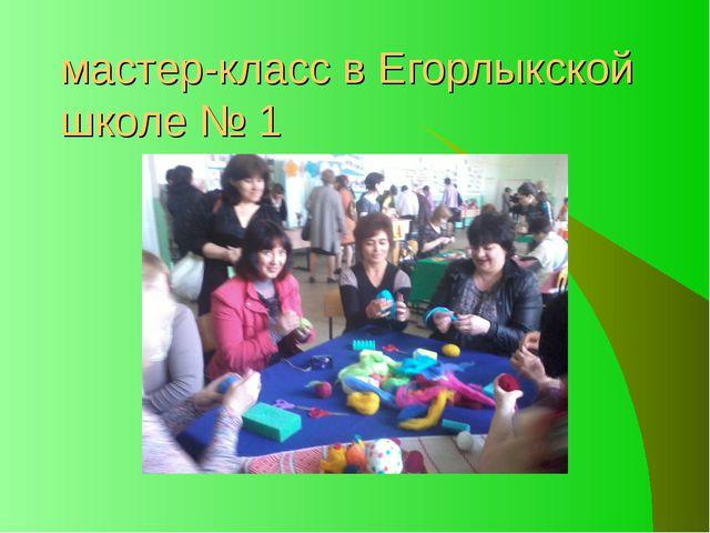 мастер-класс в Егорлыкской школе № 1