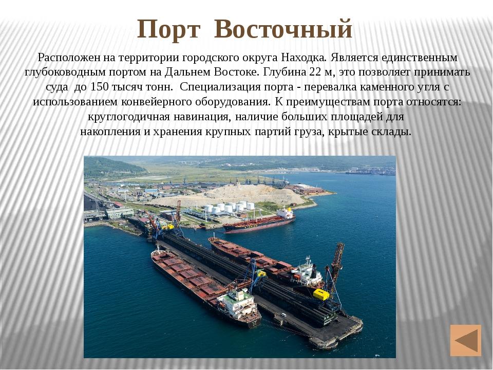 Порт Восточный Расположен на территории городского округа Находка. Является е...