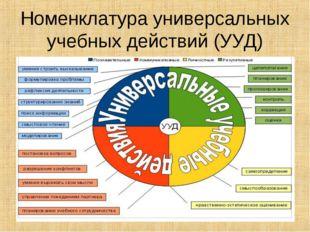 Номенклатура универсальных учебных действий (УУД)