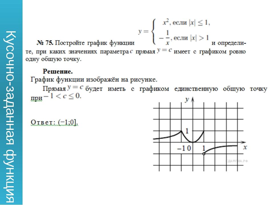 Кусочно-заданная функция