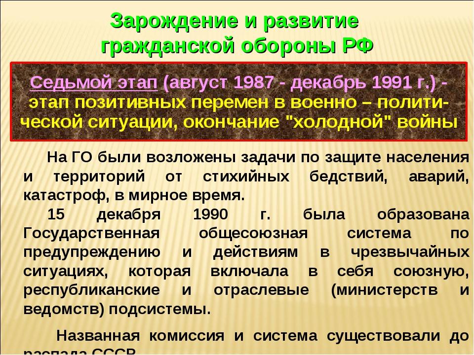 Седьмой этап (август 1987 - декабрь 1991 г.) - этап позитивных перемен в воен...