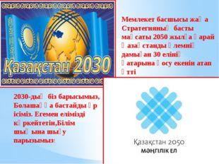 Мемлекет басшысы жаңа Стратегияның басты мақсаты 2050 жылға қарай Қазақстанды