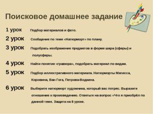 Поисковое домашнее задание 1 урок Подбор материалов и фото. 2 урок Сообщение