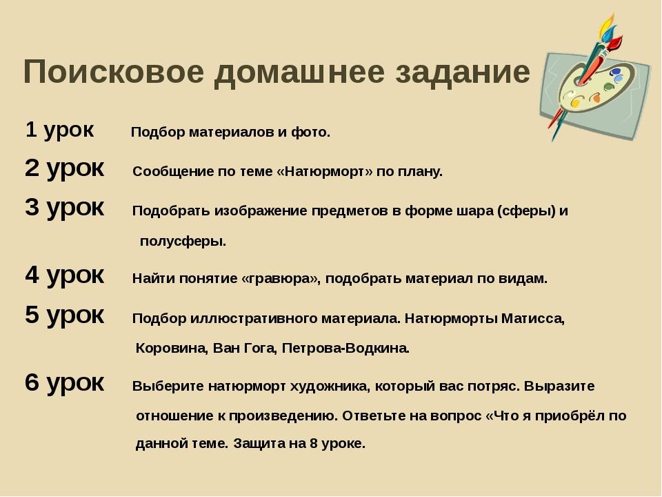 Поисковое домашнее задание 1 урок Подбор материалов и фото. 2 урок Сообщение...