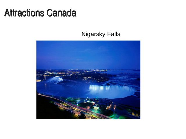 Attractions Canada Nigarsky Falls