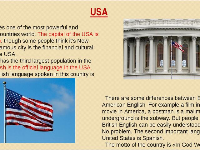 USA United States one of the most powerful and advanced countries world. The...