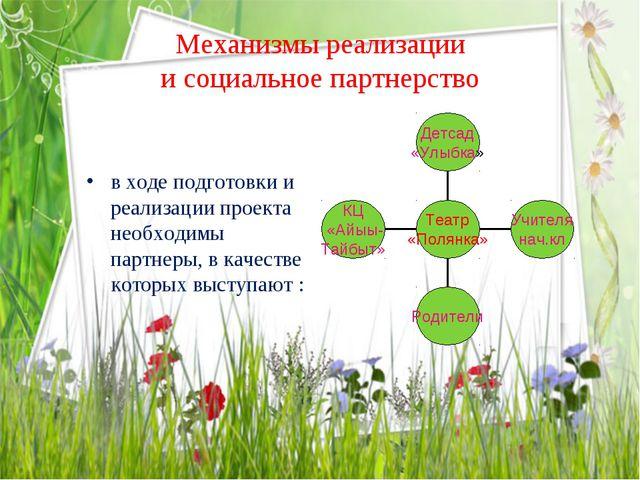 Механизмы реализации и социальное партнерство в ходе подготовки и реализации...