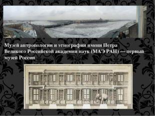 МузейантропологиииэтнографииимениПетра ВеликогоРоссийской академии наук