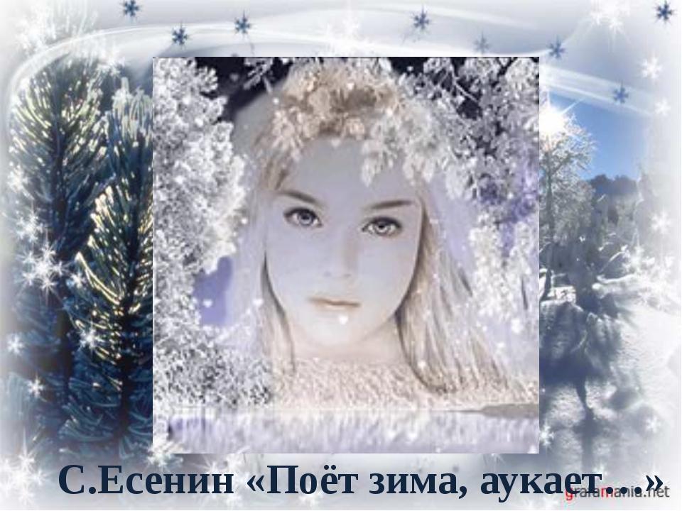 . С.Есенин «Поёт зима, аукает…»