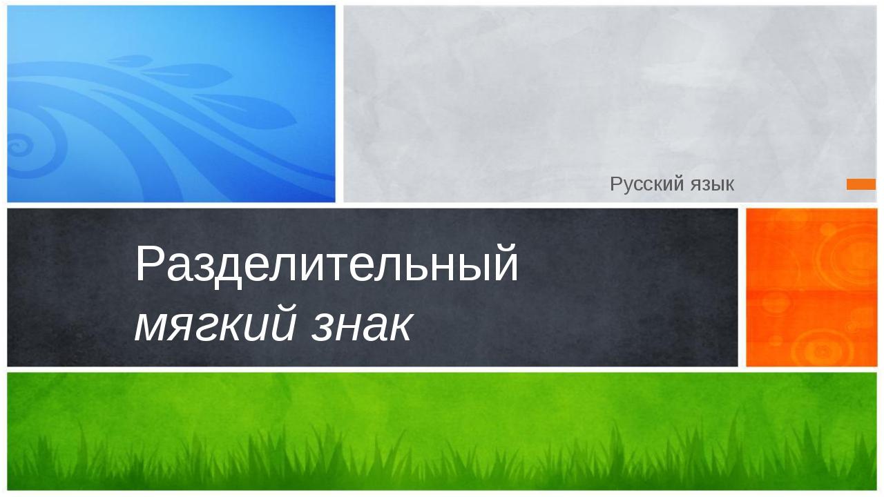 Русский язык Разделительный мягкий знак Образец подзаголовка Эта презентация...