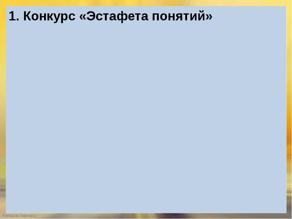 2. Конкурс «Великий систематик» 1 2 3 4 5 6 FokinaLida.75@mail.ru