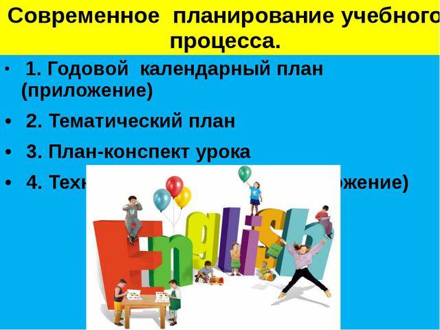 Современное планирование учебного процесса. 1. Годовой календарный план (прил...