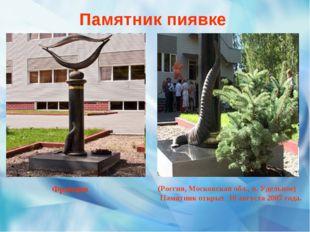 Памятник пиявке (Россия, Московская обл., п. Удельное) Памятник открыт 10 авг