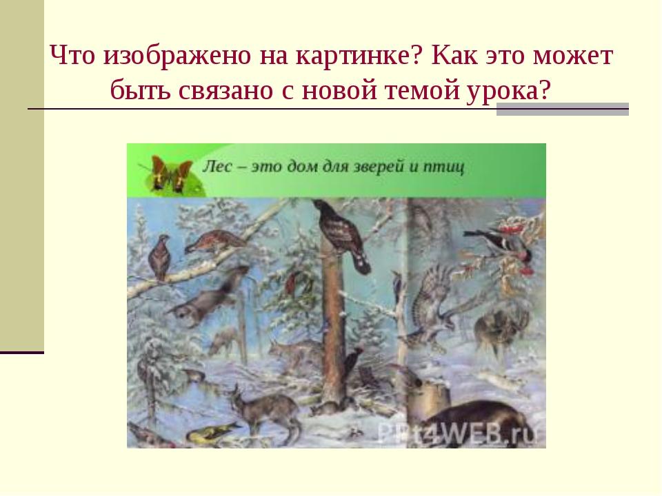 Что изображено на картинке? Как это может быть связано с новой темой урока?