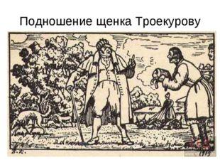 Подношение щенка Троекурову