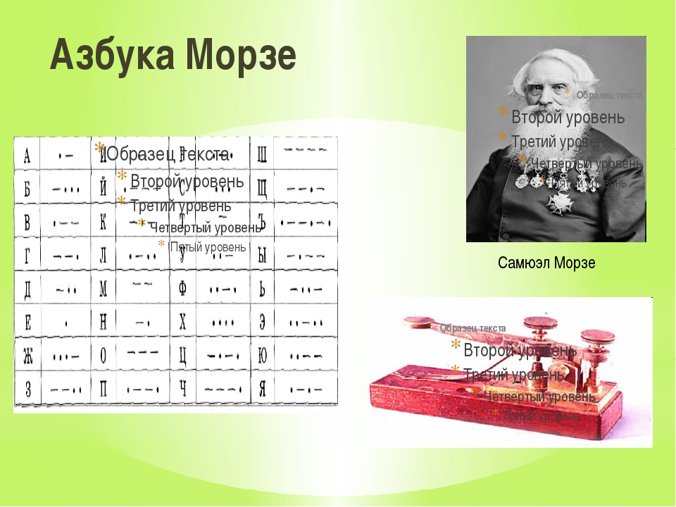 Азбука Морзе Самюэл Морзе