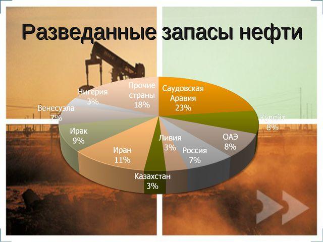 Разведанные запасы нефти