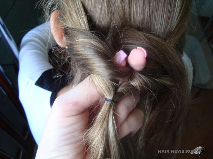 Коса с резинками - пошаговая инструкция
