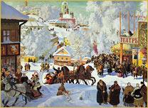 Масленница 1919 г. Кустодиев
