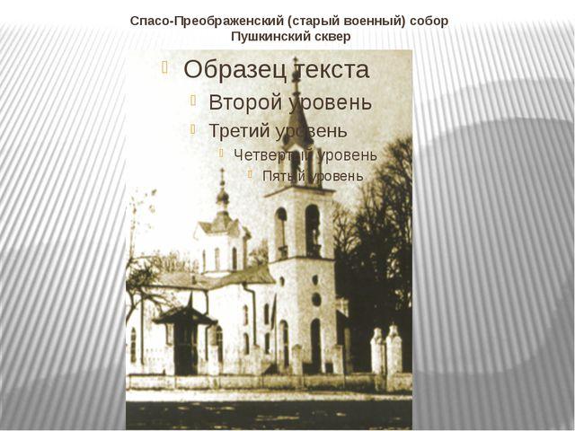 Спасо-Преображенский (старый военный) собор Пушкинский сквер