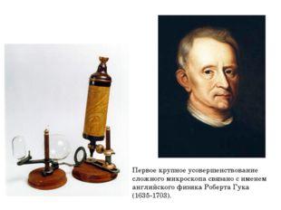 Первое крупное усовершенствование сложного микроскопа связано с именем англий