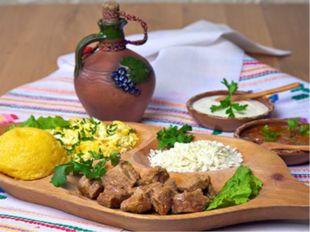 Национальные блюда У молдаван преобладают блюда из кукурузной муки– мамалыга,