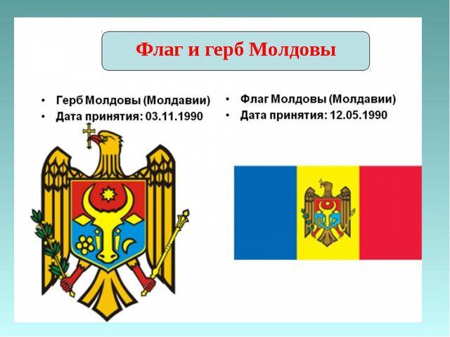 Флаг и герб Молдовы