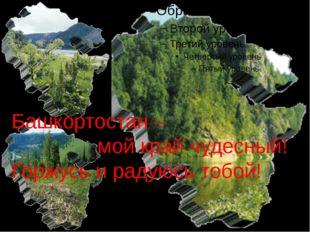 Башкортостан – мой край чудесный! Горжусь и радуюсь тобой!