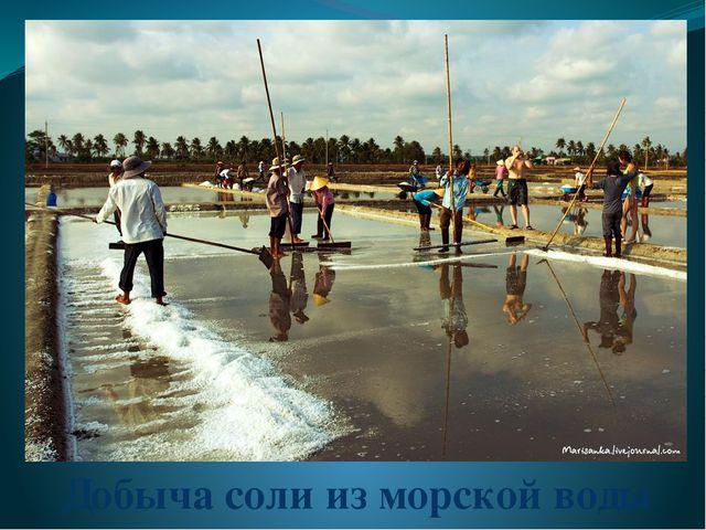 Добыча соли из морской воды