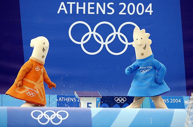 Талисманы Афинской Олимпиады - Афина и Феб