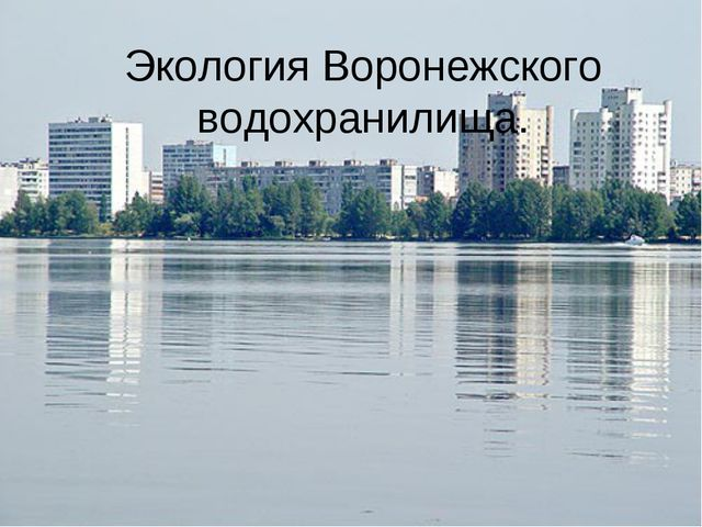 Экология Воронежского водохранилища.