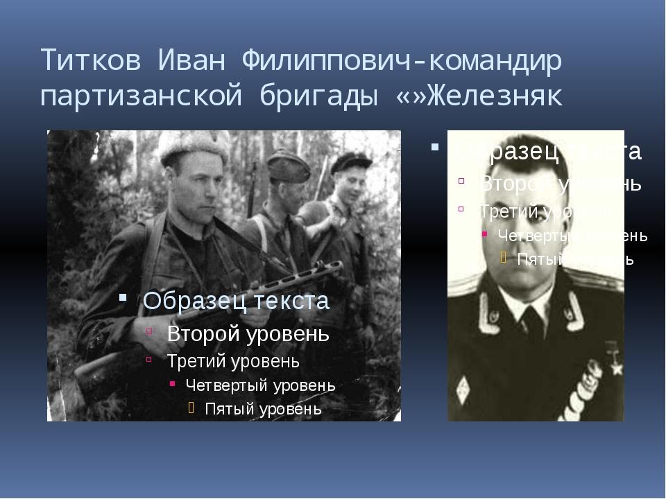 Титков Иван Филиппович-командир партизанской бригады «»Железняк
