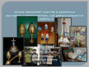 Школа принимает участие в различных выставках и мероприятиях, где демонстриру