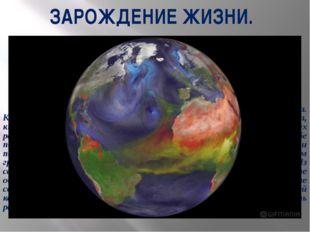 ЗАРОЖДЕНИЕ ЖИЗНИ. Первый миллиард лет назад наша планета была безжизненна. К