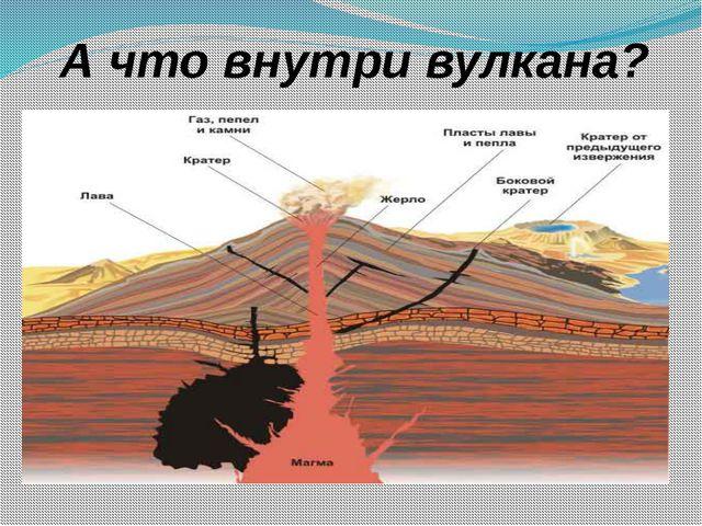 А что внутри вулкана?