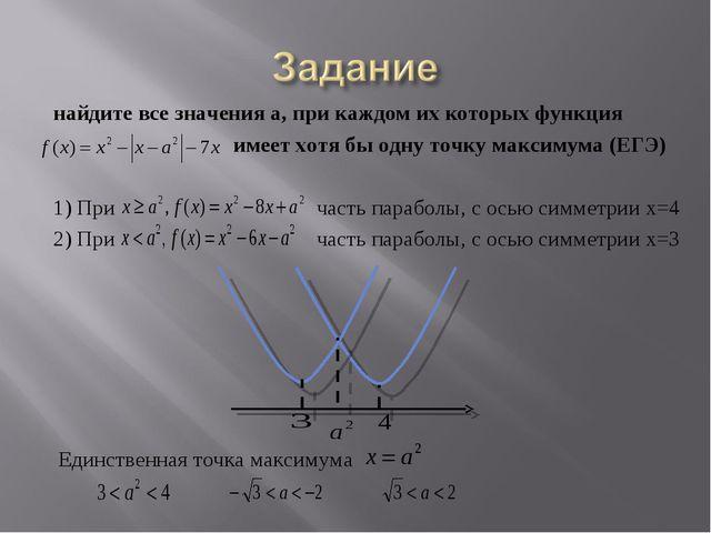 найдите все значения а, при каждом их которых функция имеет хотя бы одну точк...