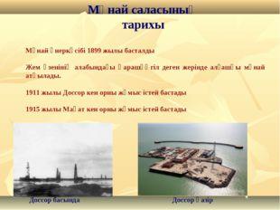 Мұнай саласының тарихы Мұнай өнеркәсібі 1899 жылы басталды Жем өзенінің алабы