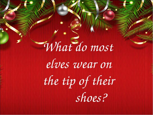 What do most elves wear on the tip of their shoes?