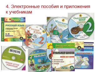 4. Электронные пособия и приложения к учебникам