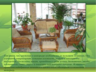 Тот факт, что растения в интерьере необходимы, не вызывает сомнений. Они улуч