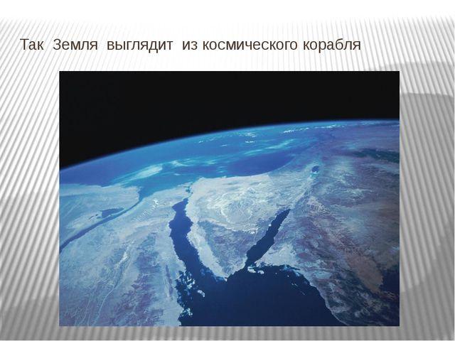 Так Земля выглядит из космического корабля