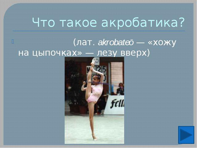 Виды Прыжковая: Акробатические прыжки на дорожке длинной 30 метров не учитыва...