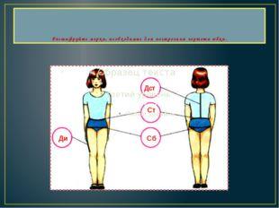 Расшифруйте мерки, необходимые для построения чертежа юбки. Дст Ст Сб Ди