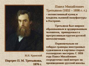 И.Н. Крамской Портрет П. М. Третьякова, 1876 г. Павел Михайлович Третьяко