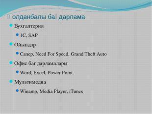 Қолданбалы бағдарлама Бухгалтерия 1C, SAP Ойындар Сапер, Need For Speed, Gran